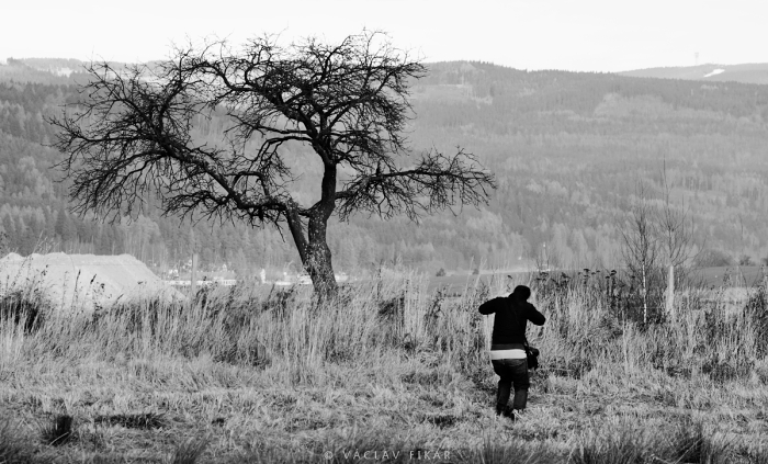Photographer in the Ore Mountains